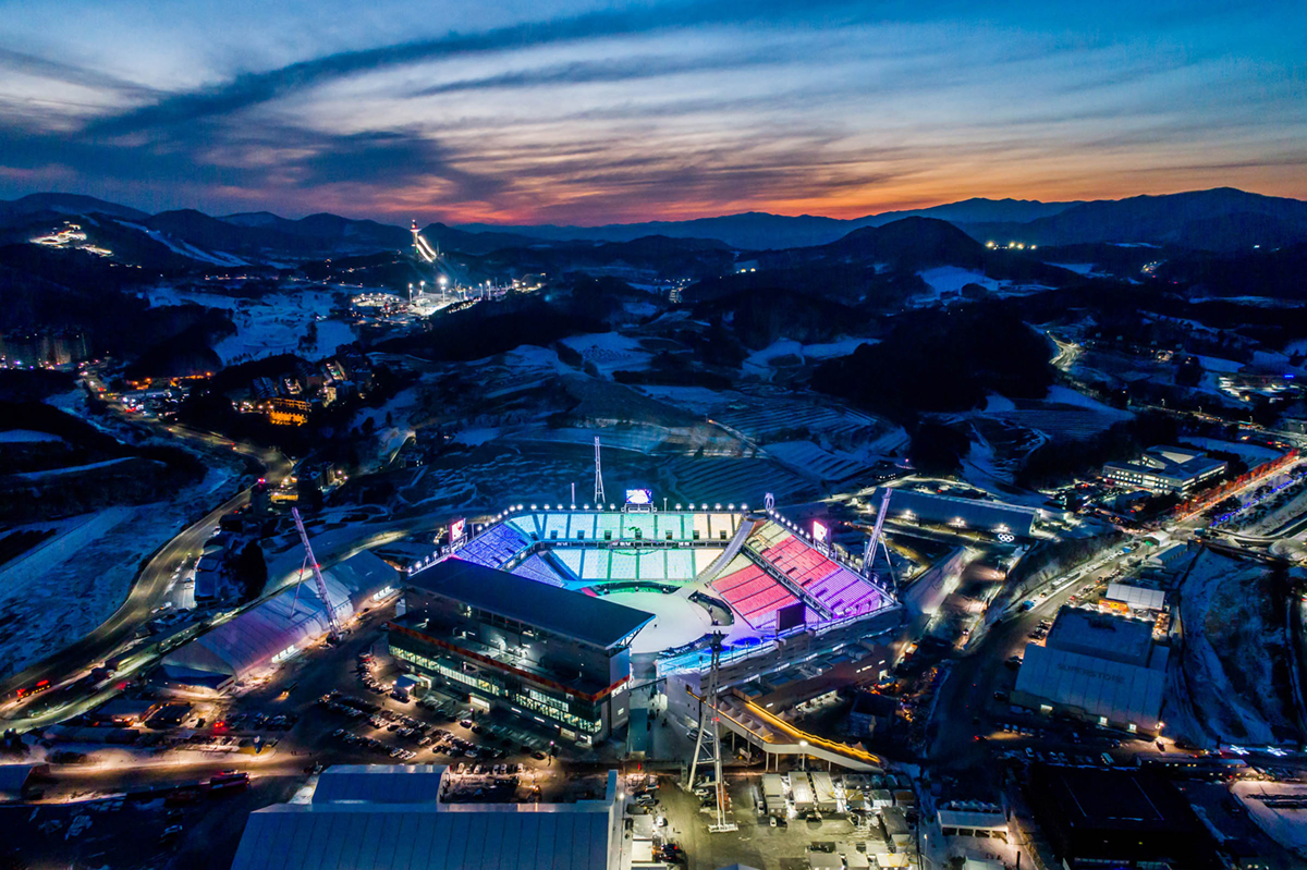 Aerial Views Of The 2018 Winter Olympics Venues